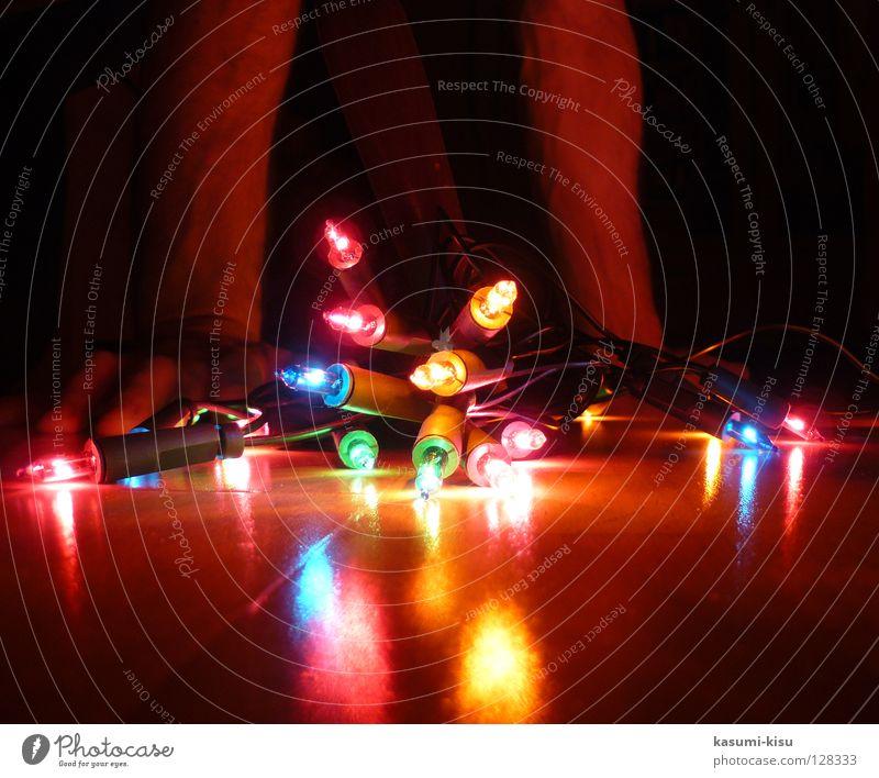 colorful glowworms Multicoloured Red Yellow Green Hand Dark Fairy lights Light Glow Lamp Joy Decoration Blue Reflection Lighting