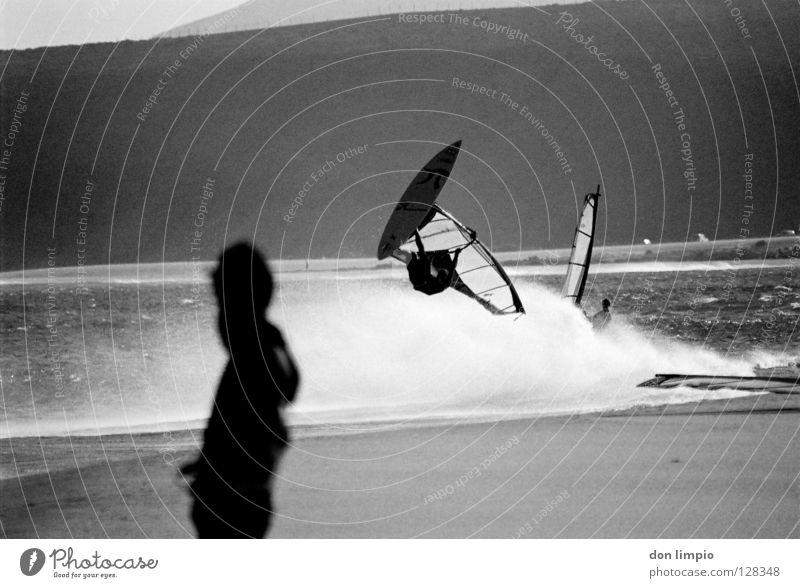 Ocean Beach Sports Waves Wind Analog Airport Audience Surfer Aquatics Fuerteventura Processed