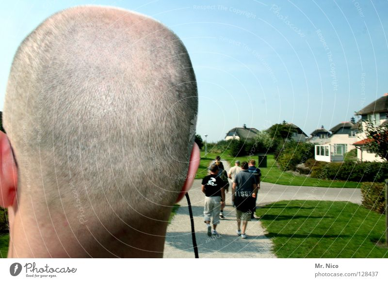 2mm House (Residential Structure) House building Human being Man Adults Head Sky Park Meadow Lanes & trails Eyeglasses Bald or shaved head Build Going
