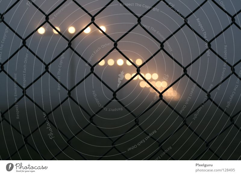 Airport 1 Beacon Fog Fence Wire netting fence Horizon shambles of emotion Airplane landing low flying