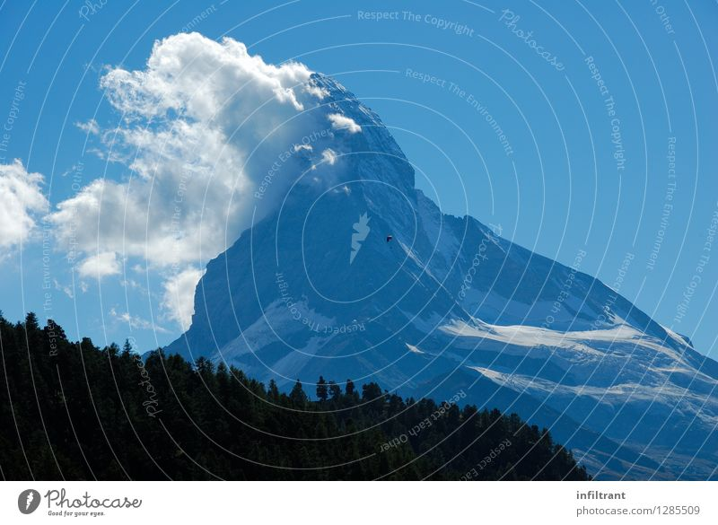 Sky Nature Blue Summer Landscape Calm Clouds Black Mountain Happy Gray Freedom Flying Rock Contentment Power