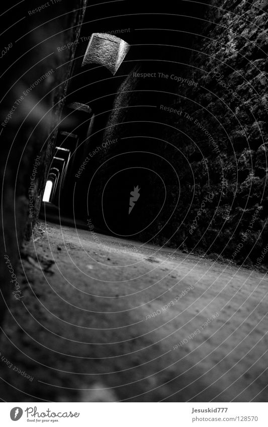 Trier Structures and shapes Dark Mystic Tunnel Helpless Doomed Transience Floor covering Underground passage Fear Death shade