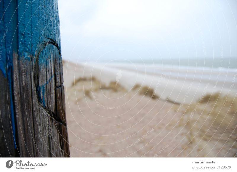 Better half Wood Beach Romance Divide Heart Sand Beach dune