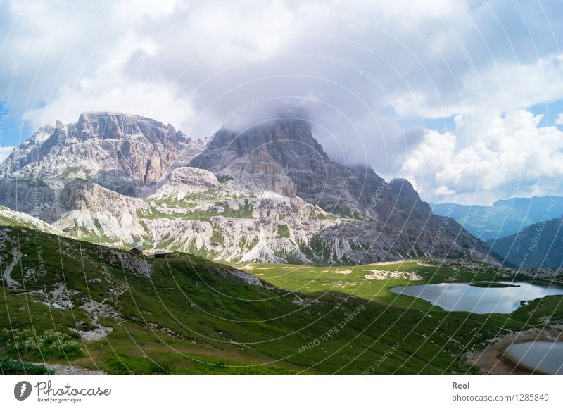Dolomites III Vacation & Travel Tourism Trip Summer vacation Mountain Environment Nature Landscape Elements Earth Sky Clouds Bad weather Meadow Rock Alps