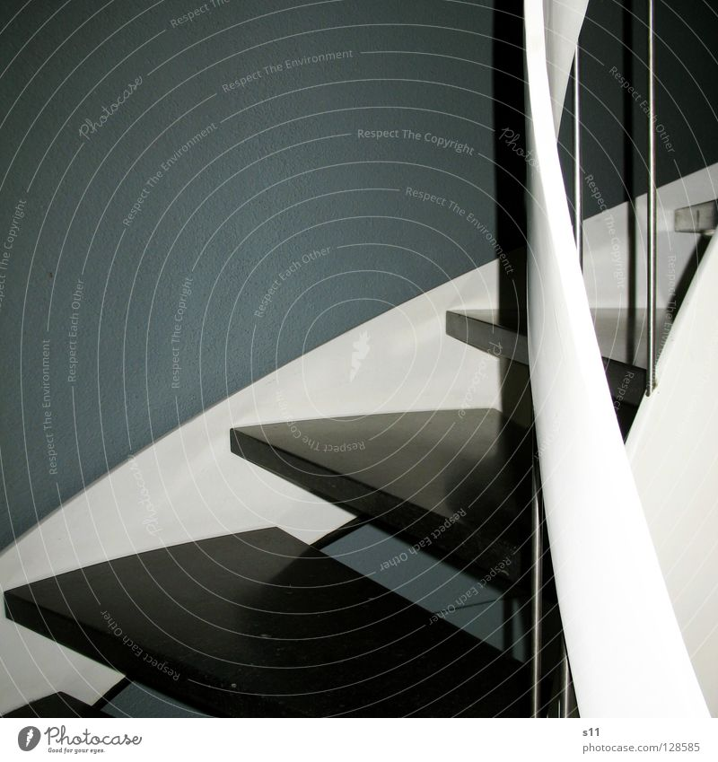 White House (Residential Structure) Black Gray Stairs Round Entrance Banister Staircase (Hallway) Curved Footstep