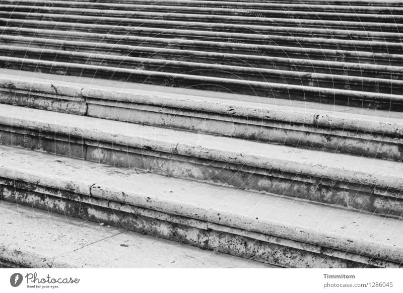 Vacation & Travel Calm Black Emotions Gray Line Stairs Esthetic Italy Serene Rome