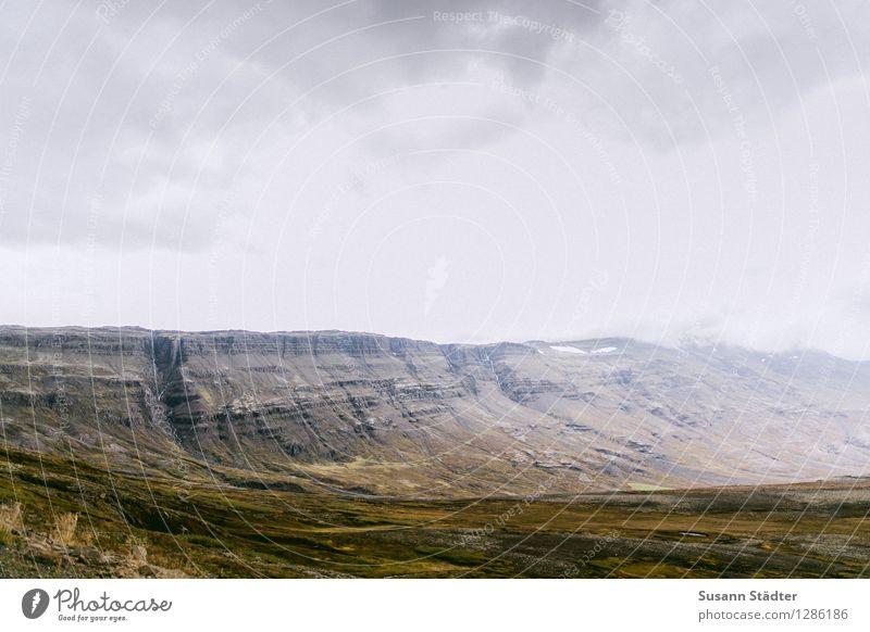 Iceland Nature Elements Earth Clouds Horizon Autumn Rock Mountain Bay Uniqueness Threat Calm Landscape Loneliness Glacier Moss Colour photo Multicoloured
