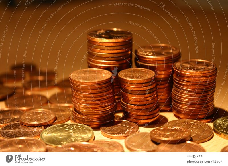 Coin Money Luxury Euro Paying Save Numbers Cent Debts