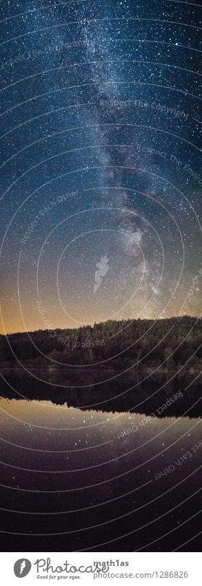The Milky Way over Lake Hafnersee Environment Landscape Water Sky Night sky Stars Horizon Coast Lakeside Moody Joy Adventure Serene Far-off places Milky way