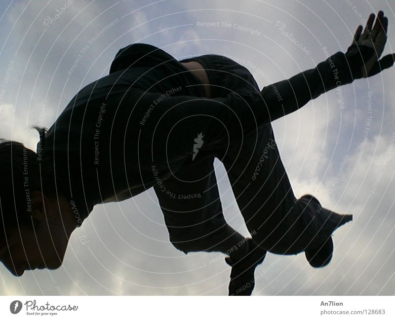 Sky Black Dark Parkour Extreme sports Back somersault