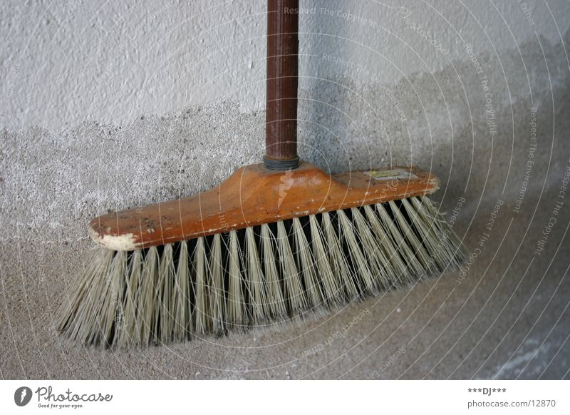 The magic broom Sweep Suck Wipe Cleaning Broom Wall (building) Plaster Dust Living or residing Stalk Dirty