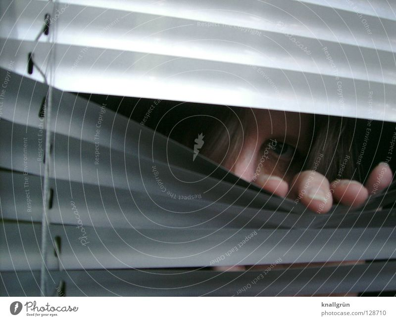 Woman Hand Face Hair and hairstyles Metal Fingers Mysterious Aluminium Venetian blinds Fix Disk