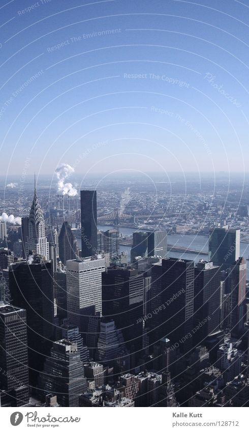 Winter Cold Skyline New York City Manhattan Empire State building