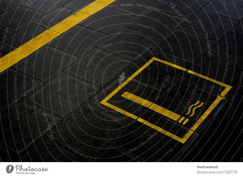 Black Yellow Signs and labeling Dangerous Smoking Asphalt Sign Smoke Signage Train station Symbols and metaphors Tar