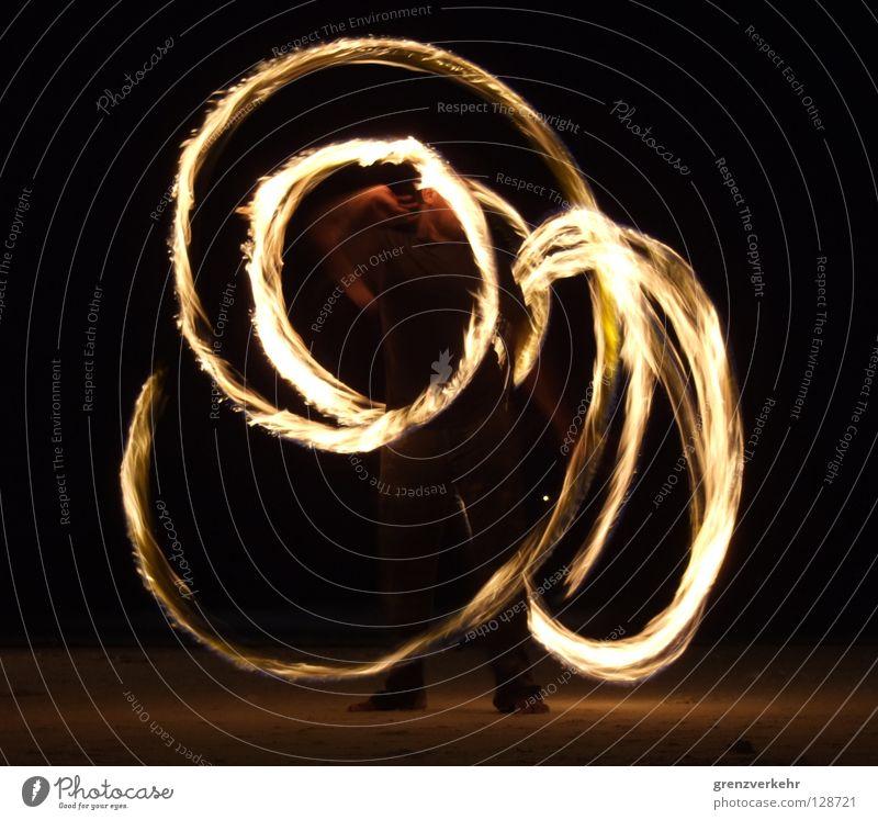 fireplayers Night Long exposure Beach Art Culture Shows Movement Esthetic fire chains fire performer fire poi fire rope cabaret kerosene Kiwido poi player