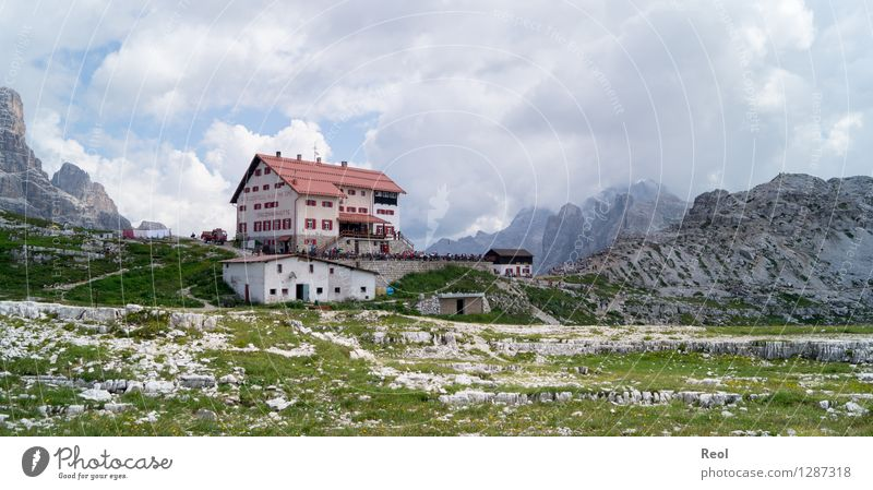 Dreizinnen hut Vacation & Travel Tourism Trip Environment Nature Landscape Sky Clouds Summer Beautiful weather Alps Mountain Sexten Dolomites South Tyrol