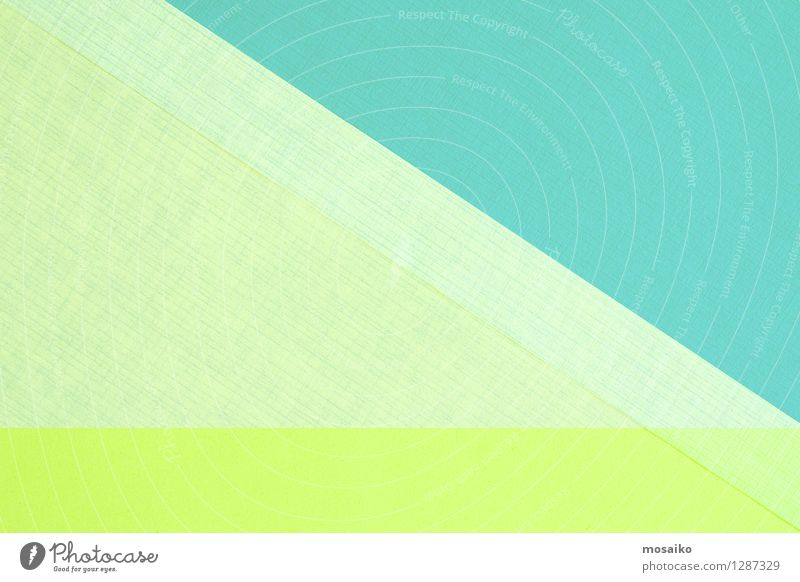 abstract paper design Style Design Decoration Wallpaper Art Paper Packaging Package Bright Modern Retro Blue Green Turquoise Colour Conceptual design Triangle