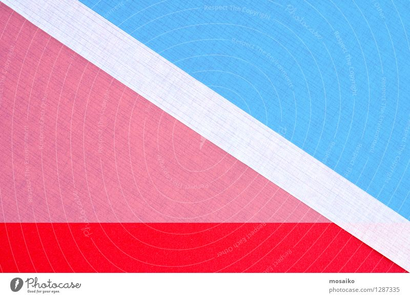 paper design Lifestyle Elegant Style Design Paper Piece of paper Blue Pink Red White Idea Inspiration Background picture Triangle Advertising Esthetic Balance