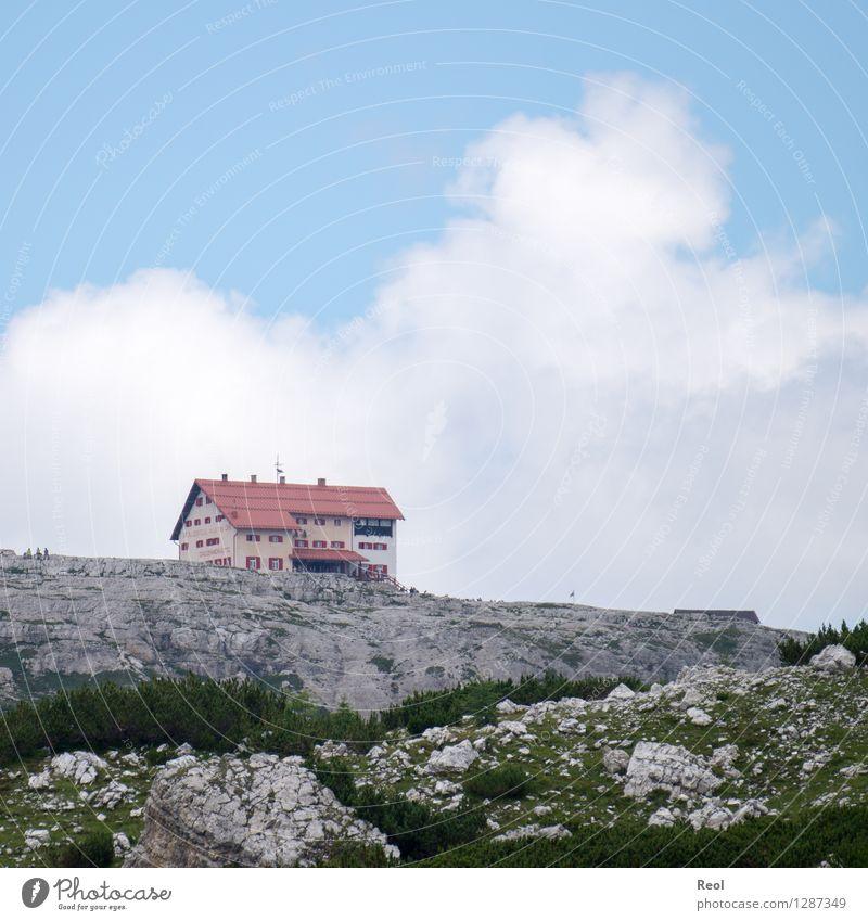Threetin Hut IV Vacation & Travel Tourism Trip Hiking Environment Nature Landscape Elements Sky Clouds Horizon Summer Beautiful weather Grass Rock Alps Mountain