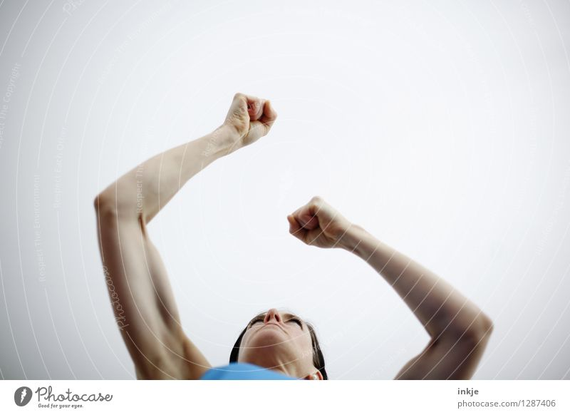 Human being Woman Hand Adults Life Emotions Sports Lifestyle Power Arm Fitness Athletic Strong Anger Brave Force