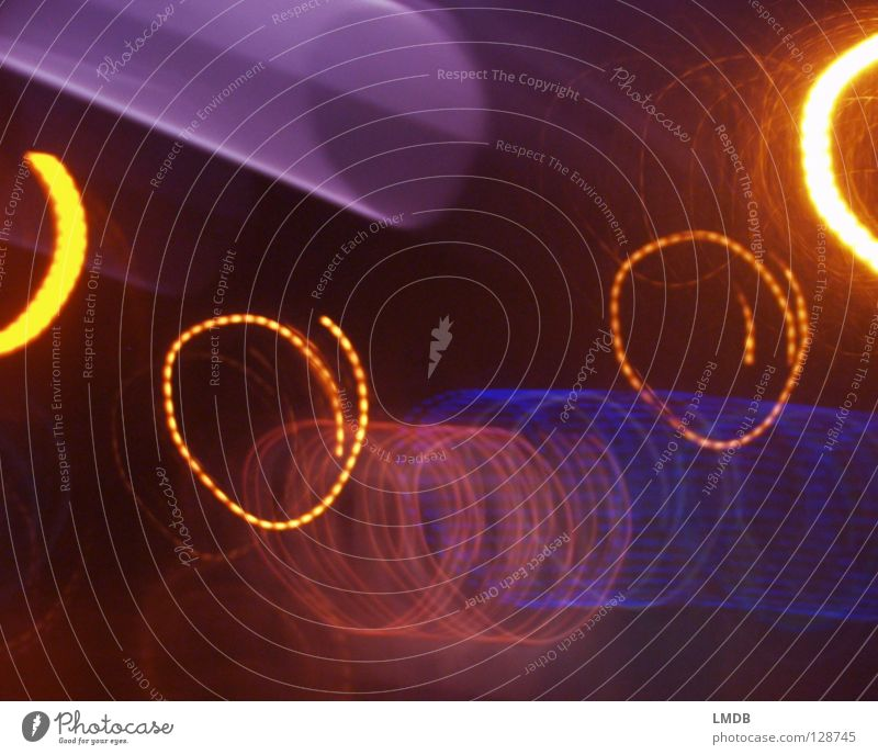 Red Black Yellow Colour Lamp Dark Movement Circle Violet Stripe Point Advertising Rotate Chaos Neon light Spiral
