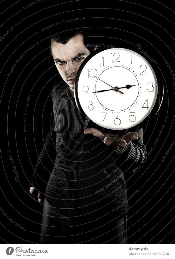 Man Hand Black Dark Hair and hairstyles Head Legs Time Arm Walking Clock Skin Nose Fingers Round Digits and numbers