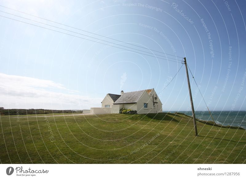 beach house Flat (apartment) Beautiful weather Meadow Coast Ocean Wales Deserted House (Residential Structure) Detached house Dream house Architecture
