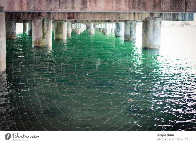 It's too narrow under the bridge at Burleigh Heads. You see a lot of bridge pillars. Queensland / Australia. Design Relaxation Trip Summer Bridge construction