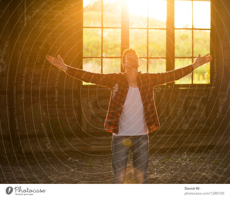 Human being Vacation & Travel Youth (Young adults) Man Beautiful Young man Relaxation Calm Adults Warmth Life Freedom Masculine Contentment Illuminate To enjoy