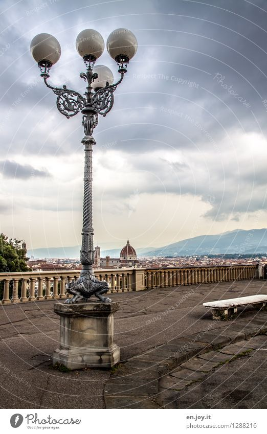 Sky Vacation & Travel City Summer Clouds Dark Environment Autumn Tourism Trip Climate Places Italy Handrail Street lighting Sidewalk