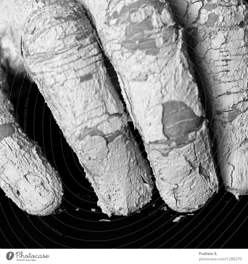 touch Man Adults Skin Fingers 1 Human being Dirty Dry Esthetic Senses Loam Crack & Rip & Tear Grasp Potter Haptic Black & white photo Interior shot Close-up