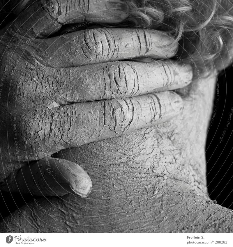 Human being Man Naked Hand Eroticism Adults Hair and hairstyles Head Line Masculine Dirty Esthetic 45 - 60 years Skin Fingers Touch