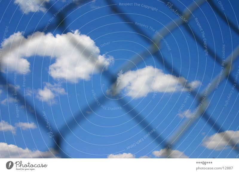Sky Sun Clouds Freedom Weather Border Fence Wire Grating Loop