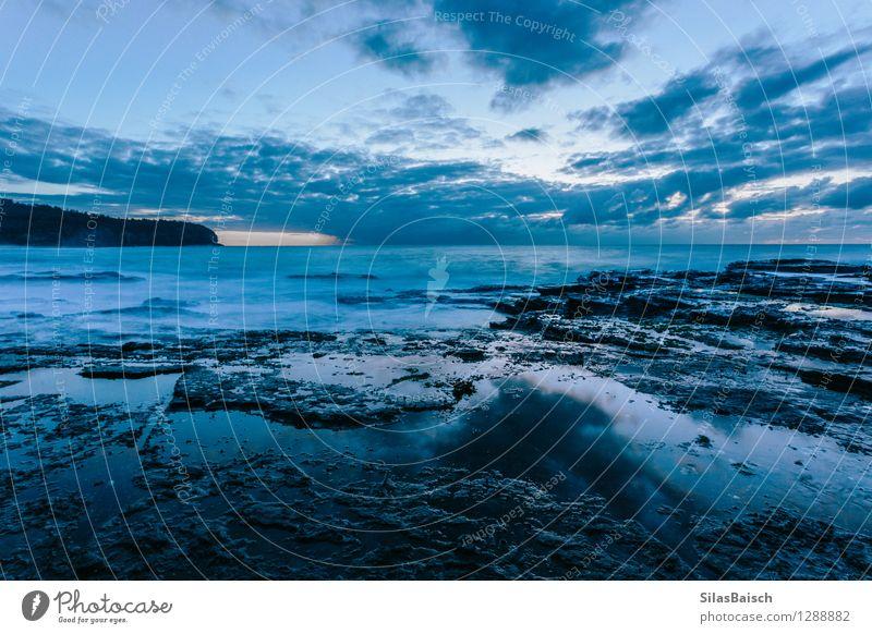 Blue Sunrise Nature Blue Ocean Landscape Clouds Far-off places Environment Spring Autumn Coast Freedom Art Tourism Fear Waves Esthetic