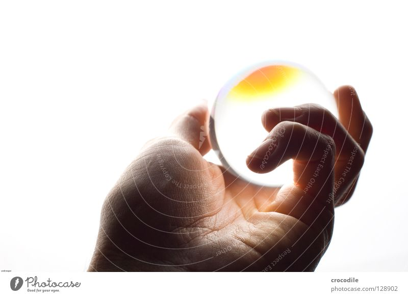 Hand Bright Skin Glass Isolated Image Fingers Might Trust Sphere Glow Rachis Fortune-telling Palm of the hand