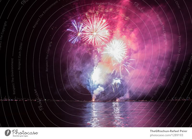 Fireworks 10 Artist Stage play Blue Multicoloured Yellow Gray Violet Orange Pink Red Black White Structures and shapes Explosion Long exposure Firecracker