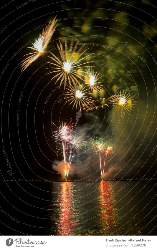 fireworks Art Artist Work of art Stage play Yellow Green Orange Pink Red Silver White Smoke Pattern Structures and shapes Explosion Fire Firecracker Lake