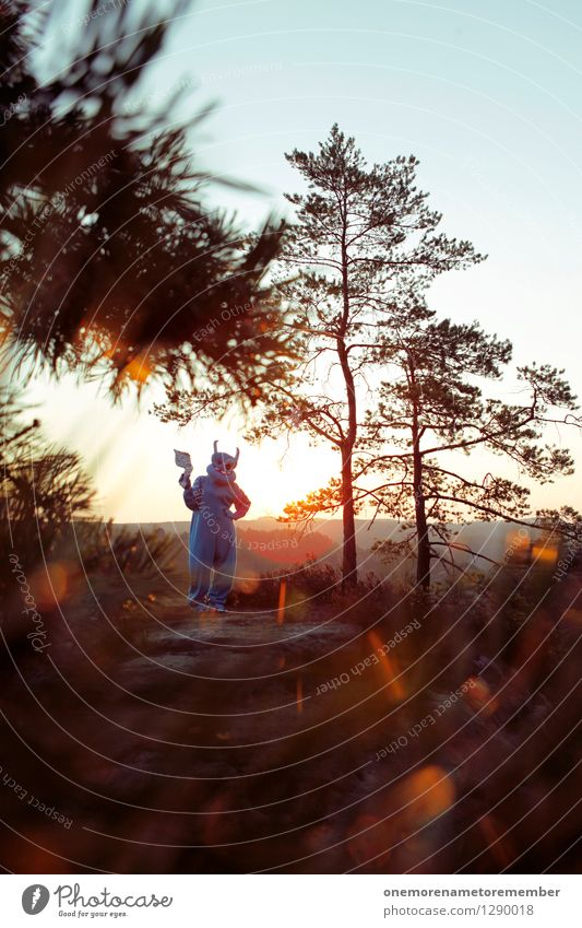 Peace? Art Work of art Esthetic Extraterrestrial being Monster Future Costume Carnival costume Laser Peaceful Stranger Foreign Foreigner Light Sunrise Blue