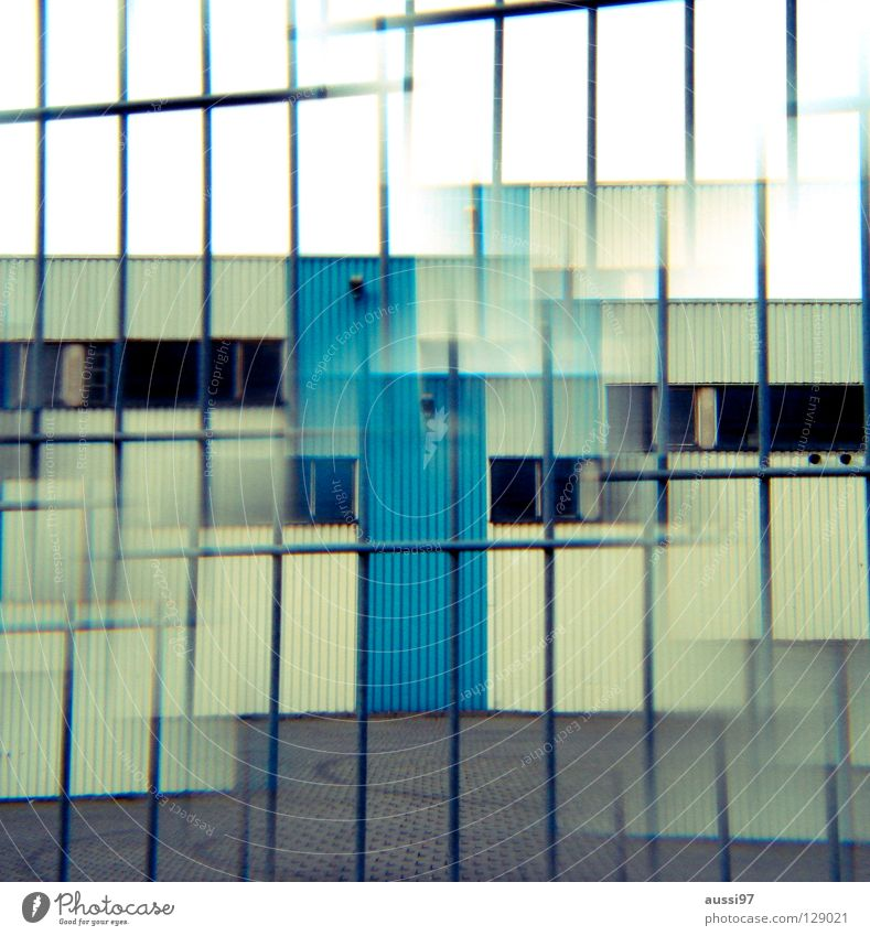 Green House (Residential Structure) Loneliness Door Closed Industry Safety Workshop Entrance Warehouse Surrealism Strange Double exposure Urinate Factory hall Prism