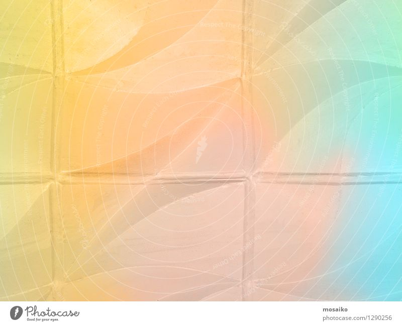 pastel color design on a wall - textured abstract background Design Wellness Wall (barrier) Wall (building) Stone Cool (slang) Blue Multicoloured Yellow Pink