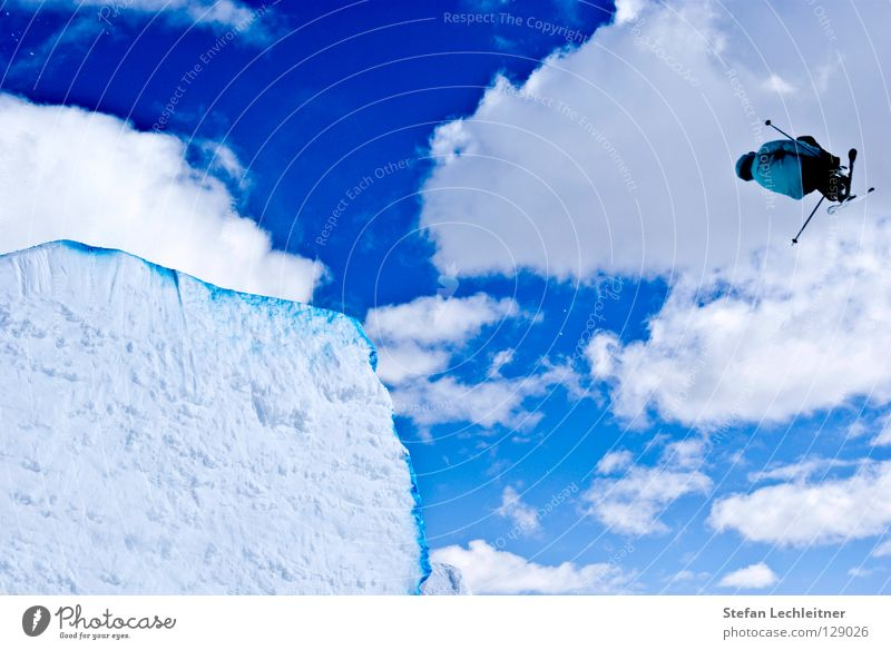 Beautiful Joy Winter Background picture Freedom Flying Jump Leisure and hobbies Large Tall Shows Alps Risk Skiing Brave Rotate