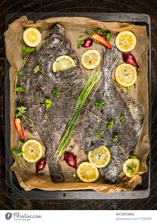 Healthy Eating Life Dish Style Food photograph Food Design Nutrition Table Cooking & Baking Herbs and spices Kitchen Fish Vegetable Organic produce Meal