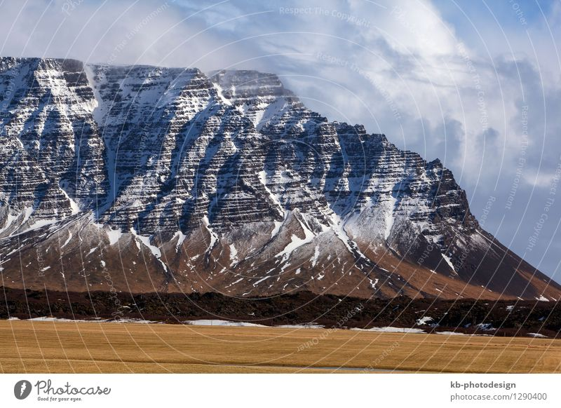Impressive volcanic landscape in Iceland Vacation & Travel Tourism Adventure Far-off places Winter Landscape Rock Volcano Snæfellsnes volcano island volcanoes