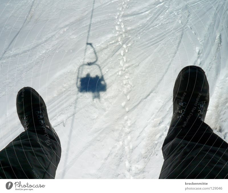 White Winter Black Snow Flying Sit Footwear Logistics Cable Skiing Tracks Hover Surrealism Winter sports Winter vacation Ski lift
