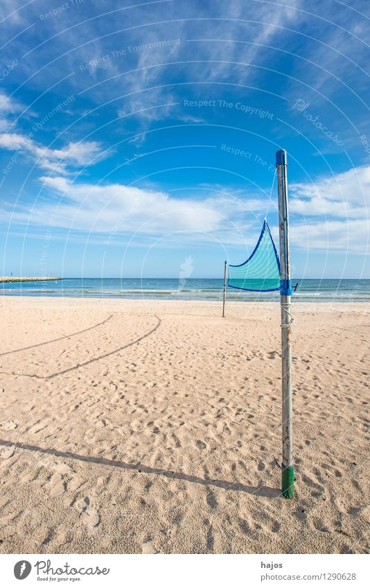 Beach volleyball, field at the beach of the Baltic Sea Joy Beautiful Relaxation Leisure and hobbies Playing Vacation & Travel Summer Sports Ball sports