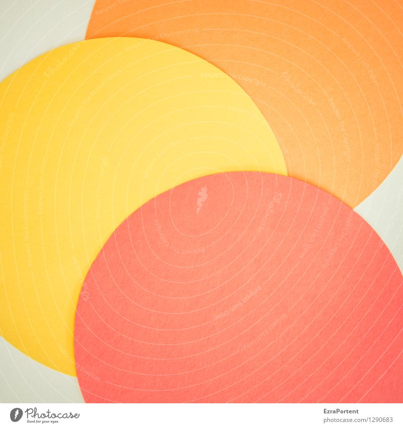 Colour White Red Yellow Style Background picture Playing Line Bright Design Orange Elegant Esthetic Sign Round Illustration