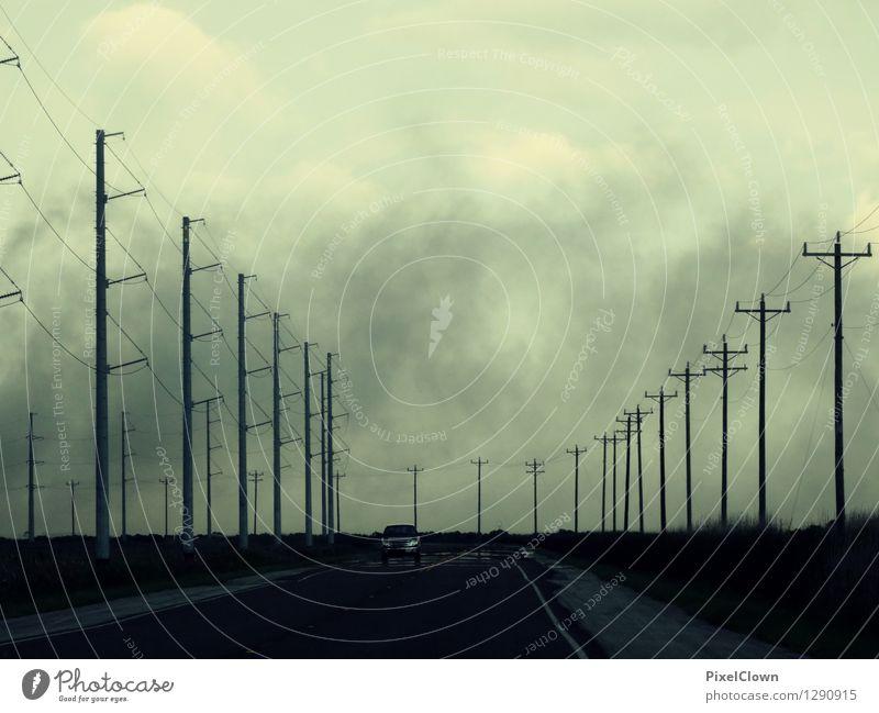 Vacation & Travel Blue Landscape Dark Street Sadness Style Gray Lifestyle Art Moody Design Tourism Fear Car Transport