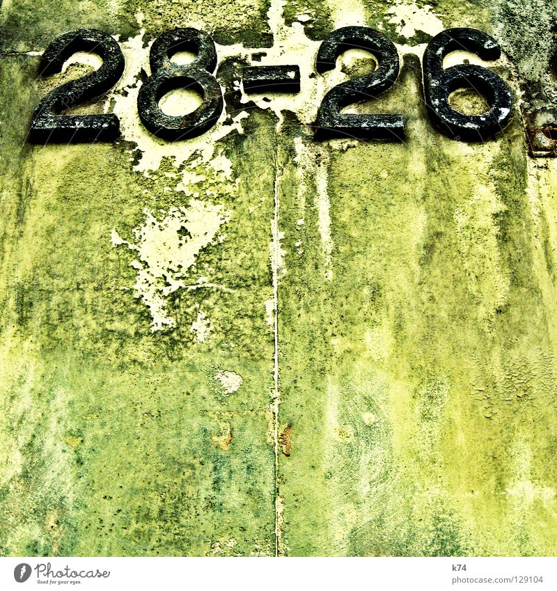 28-26 Digits and numbers House (Residential Structure) Wall (building) Find Search Together Plaster Humidity Erosion Old Destruction Change Redecorate