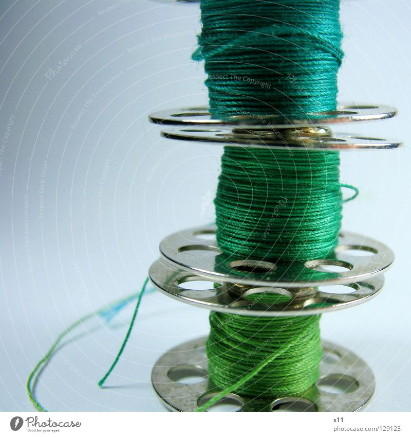 Green Colour Fashion Leisure and hobbies 3 Clothing Cloth Turquoise Craft (trade) Sewing thread Textiles Sewing Whorl Coil Stitching Tailor