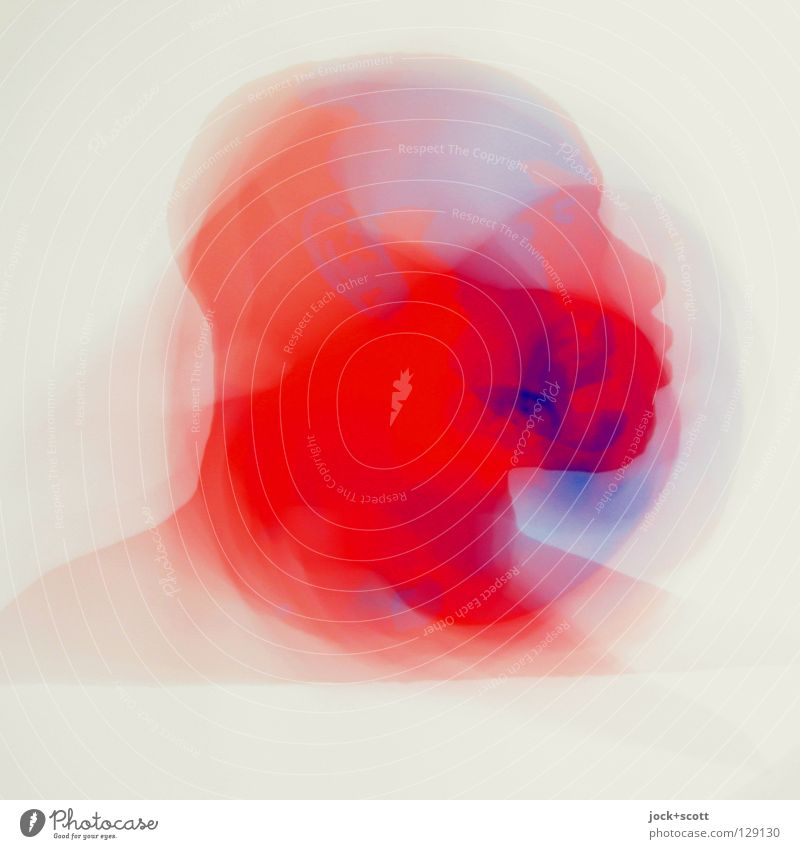 vertigo Senses Head Art Illustration Print media Pictogram Movement Rotate Exceptional already Blue Red Emotions Flexible Dream Perturbed Esthetic Identity